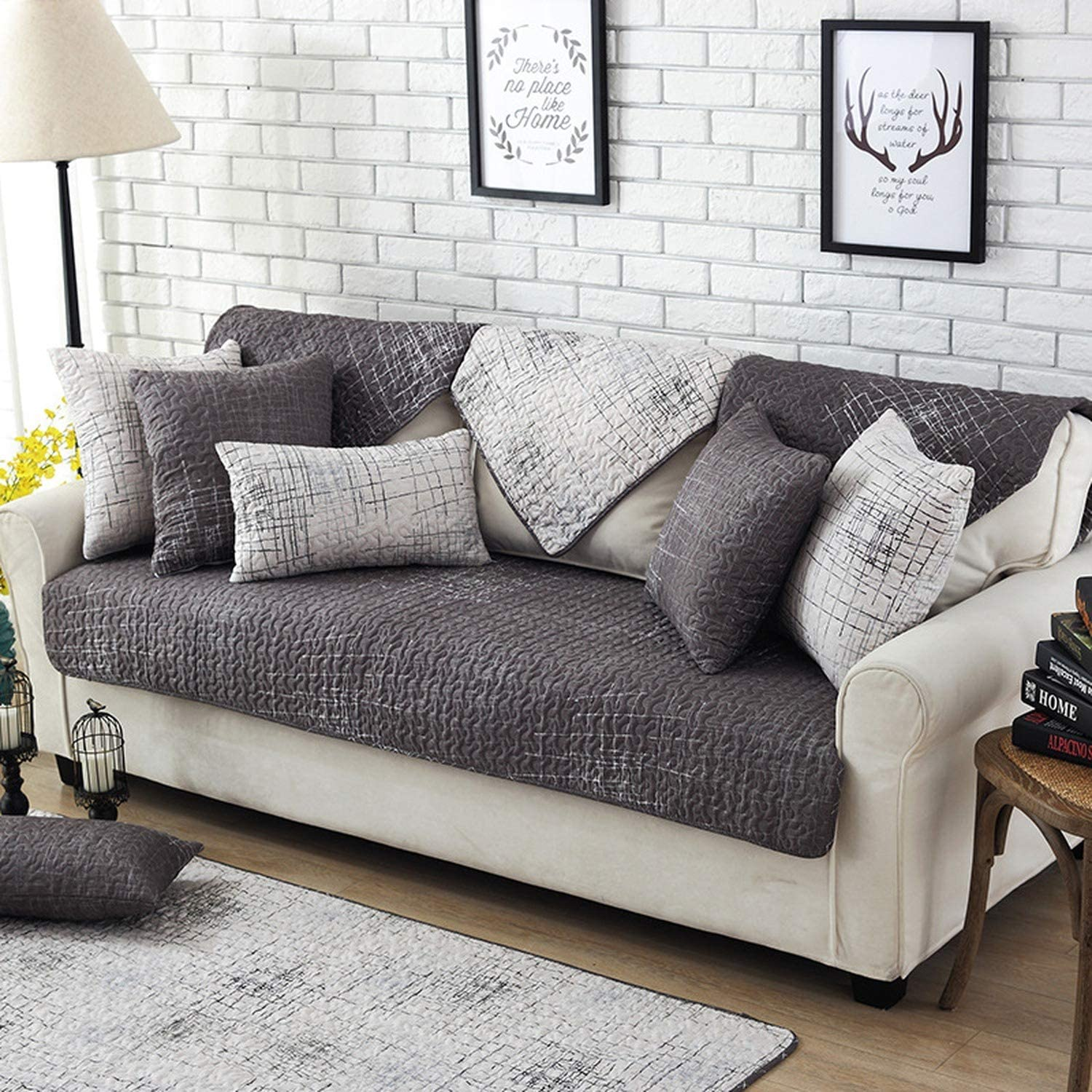 tt lemon artistic grey style sofa cover