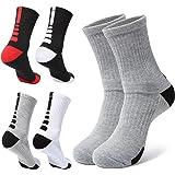 Basketball Socks Mens Athletic Compression Crew Ankle Socks For Basketball & Running