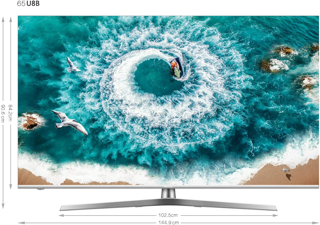 TELEVISOR 65 65U8B STV WiFi UHD ULED LOCALD SUBW HISENSE: Hisense ...