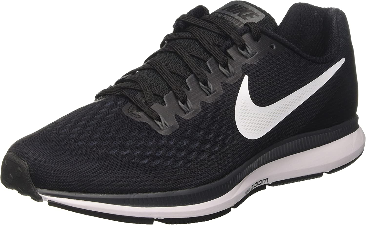 NIKE Men s Air Zoom Pegasus 34, Black White-Dark Grey, 6.5 M US