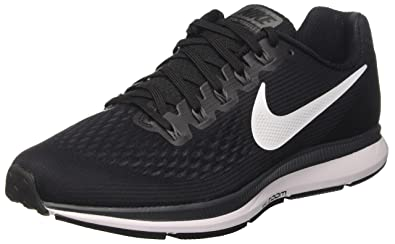 NIKE Men's Air Zoom Pegasus 34 Black/White/Dark Grey Running Shoe 7.5 Men