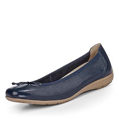 newest c55c6 f3768 CAPRICE Ballerina, blau: Amazon.de: Schuhe & Handtaschen