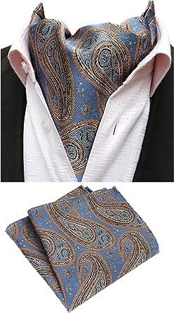 MOHSLEE Mens Striped Banquet Suit Tie Handky Silk Suit Necktie Pocket Square Set