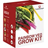 Rainbow Vegetable Seed Growing Kit Gift Box - 5 Vibrant Varieties of Veg to Grow; Carrot, Radish, Beetroot, Chard & Tomato Seeds by Thompson & Morgan