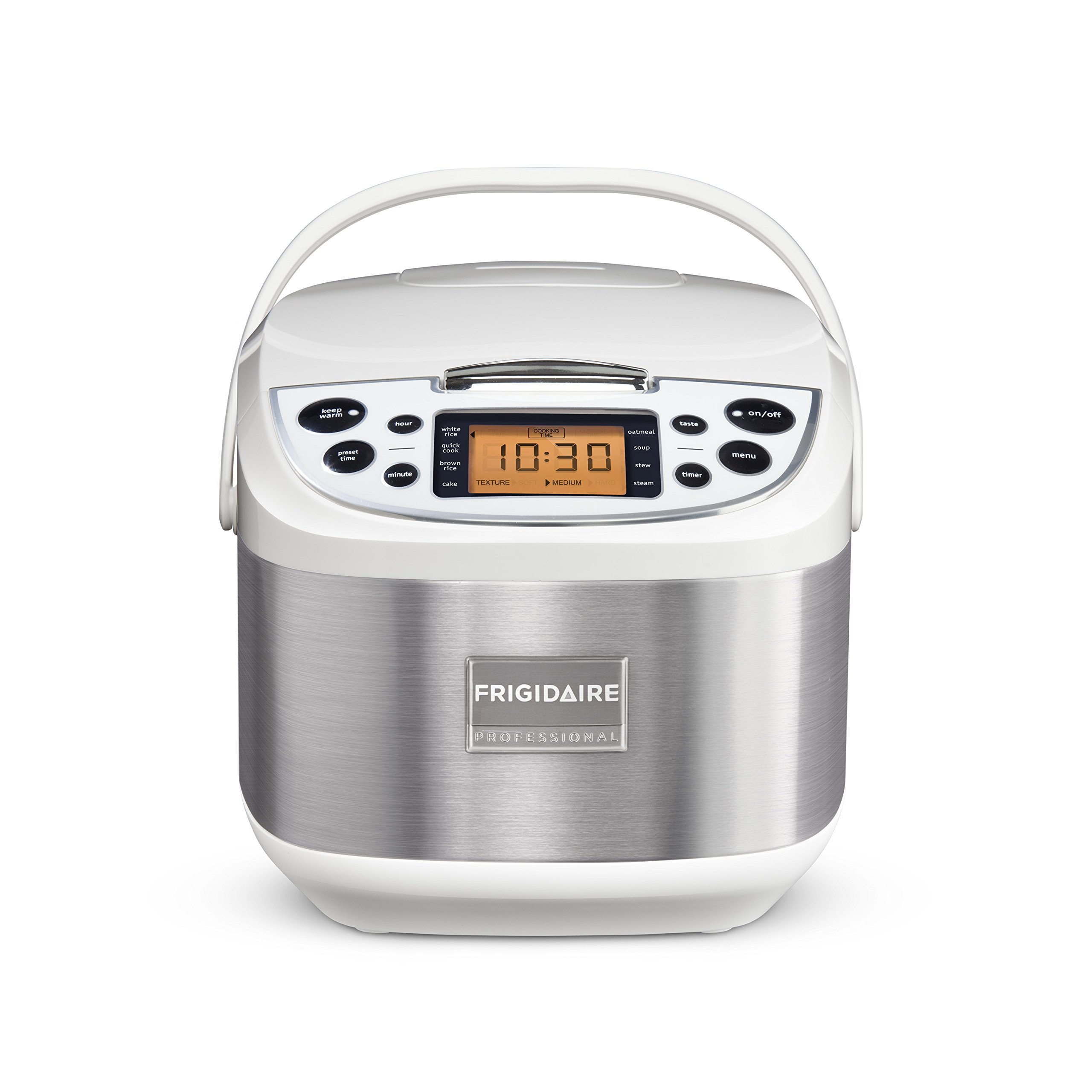 Frigidaire Professional 10-Cup Fuzzy Logic Rice Cooker, 11 Cooking Settings with Stainless Steel