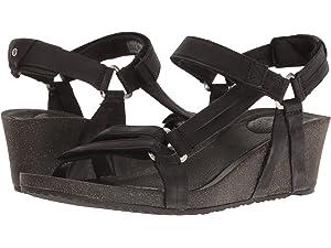 e2b48f150d Amazon.com | Teva Women's W Ysidro Universal Wedge Sandal, Black, 5 ...