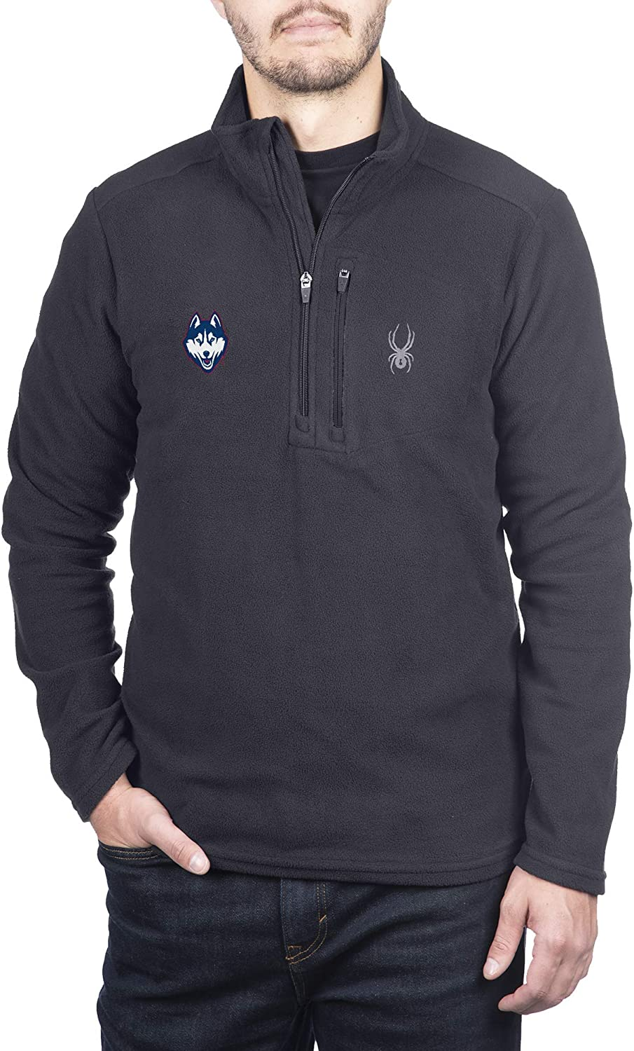 Spyder Mens Transport Quarter Zip Premium Fleece Gameday Pullover