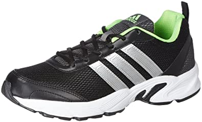 adidas Men's Albis 1.0 M Black and Silver Green Running Shoes (7 UK/India