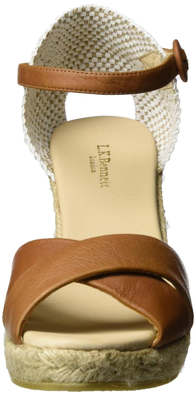 d2994fae17 L.K. Bennett Women's Angele-Tum Espadrille Wedge Sandal, Brown-Tan, 35 EU/5  M US: Amazon.co.uk: Shoes & Bags