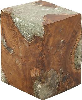 Deco 79 50841 Wood Teak Resin Stool ...  sc 1 st  Amazon.com & Amazon.com: Deco 79 Teak Wood Stool 14 by 18-Inch: Kitchen u0026 Dining islam-shia.org