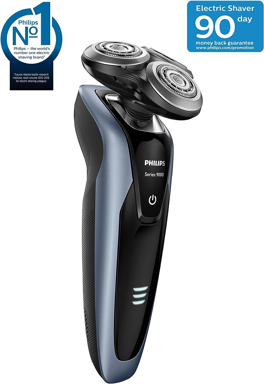 Philips SHAVER Series 9000 S9211/26 - Afeitadora (Máquina de afeitar de rotación, SH90, 2 año(s), Negro, Plata, LED, AC/Batería): Amazon.es: Hogar