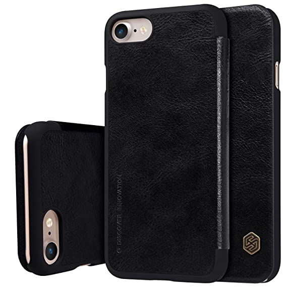 Nillkin Qin Series Leather Flip Case Cover for Apple iPhone 7 / iPhone 8 [4.7 quot;]   Black