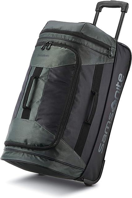 Samsonite Andante 2 Drop Bottom Wheeled Rolling Duffel Bag, Moss Green/Black, 22-Inch