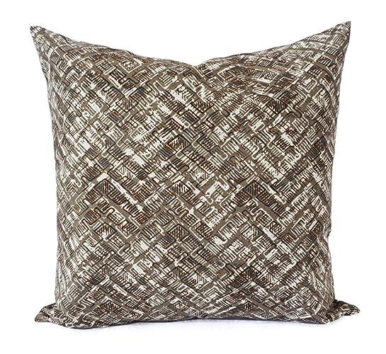Amazoncom Tan Pillows Soft Brown Geometric Pillow Cover Custom