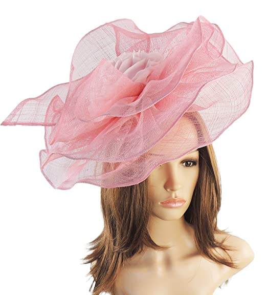 a1cc28b175c48 Hats By Cressida Wedding Kentucky Derby Ascot Fascinator Hat Candy Pink   Amazon.co.uk  Clothing