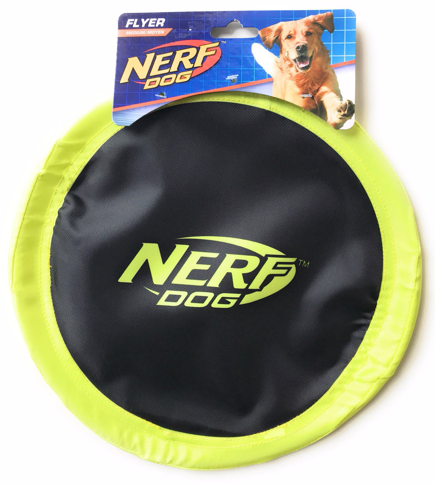 Nerf Dog Flyer Disc Dog Toy For Medium Size Dogs - Yellow Color