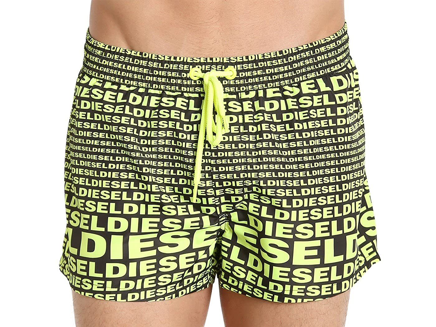 182b26203a Diesel Diesel All Over Logo Sandy Swim Shorts Yellow: Amazon.in: Clothing &  Accessories