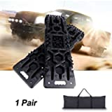 Off-Road Traction Boards with Jack Lift Base - 2Pcs Recovery Traction Mats, Traction Tracks for Trucks/Snow/Mud/Sand…