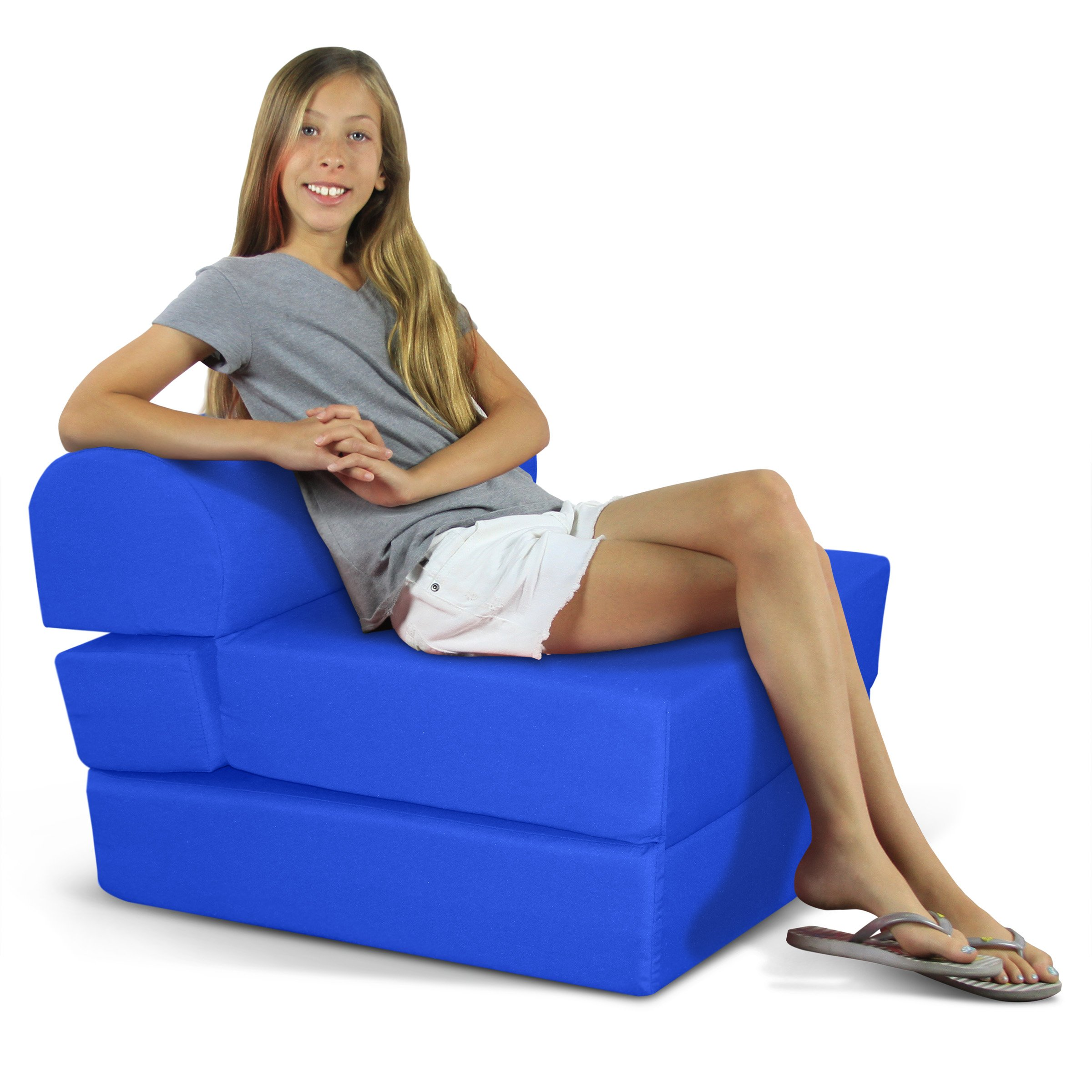 Children's Studio Chair Sleeper  Jr. Twin 24'', Royal Blue