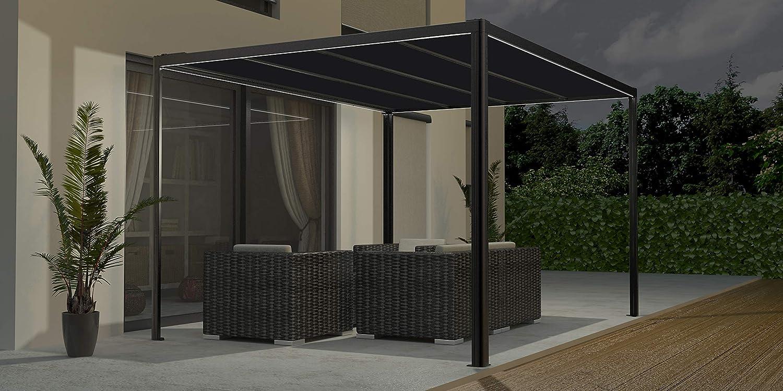 Gutta Pergola Tissu Solair 4 x 4 m: Amazon.es: Bricolaje y ...