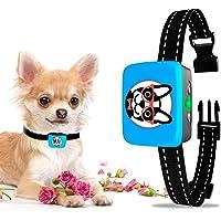 Collar de corteza de perro pequeño recargable – collar antiladridos para perros pequeños – más pequeño collar de parada…