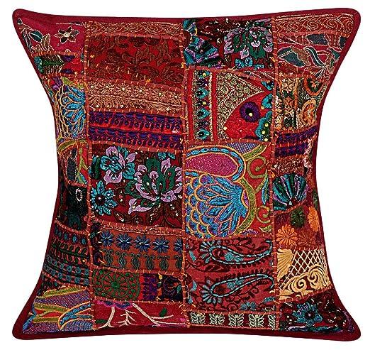 NANDNANDINI - Fundas de almohada indias hechas a mano de ...