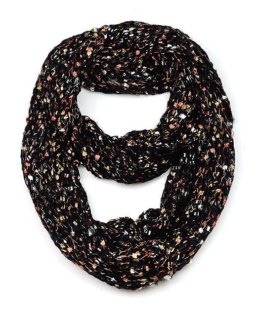 Nyfashion101 Womens Confetti Open Weave Warm Knit Infinity Loop