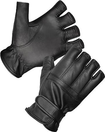 normani® Lederhandschuhe fingerlos und aus echtem Leder Bekleidung