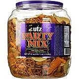 Utz Party Mix - 43 Ounce Barrel - Tasty Snack Mix Includes Corn Tortillas, Nacho Tortillas, Pretzels, BBQ Corn Chips and Chee