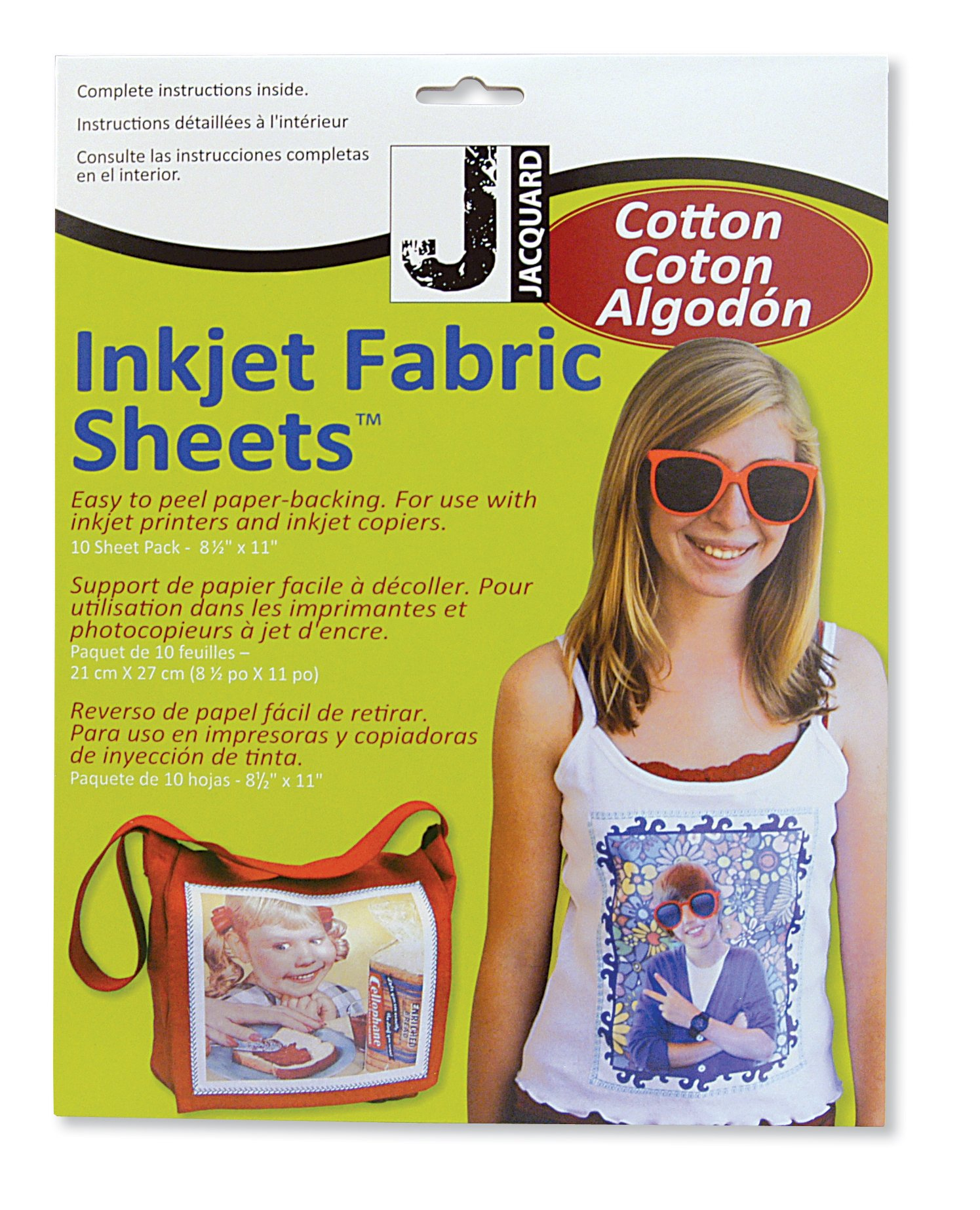 Jacquard Ink Jet Fabric 8.5'' x 11'' Cotton Sheets (10 Pack) by Jacquard (Image #1)