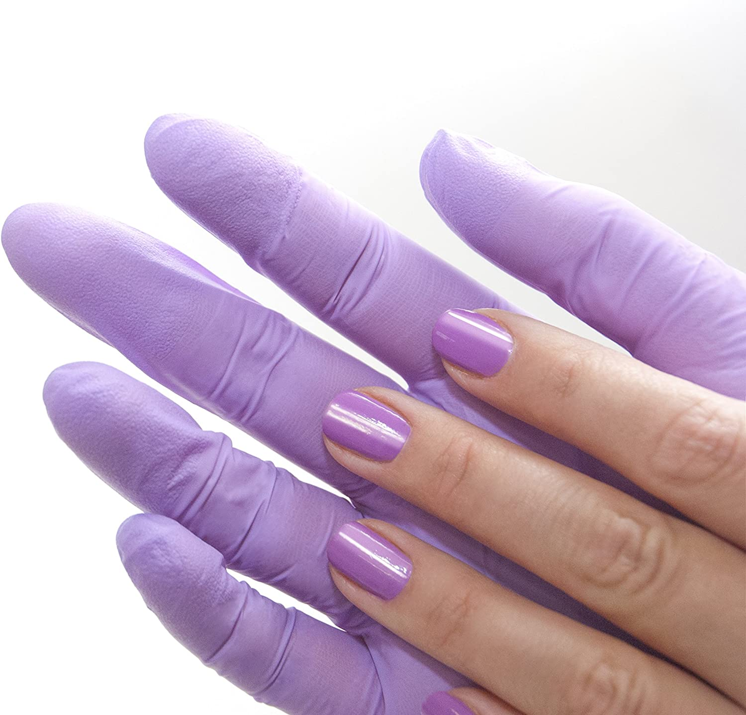 Disposable Examination Gloves Single Use Non Sterile Tattoo Powder Free Nitrile Gloves 100 Pieces Box XS, Purple//Violet Medical Latex Free Gloves