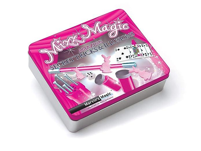 Marvins Magic Mizz Magic Gift Tin, magic set, magic tricks for kids aged 6 and upwards.