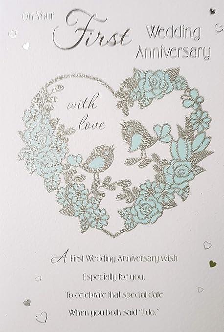 Biglietto per il primo anniversario di matrimonio, Con cuore