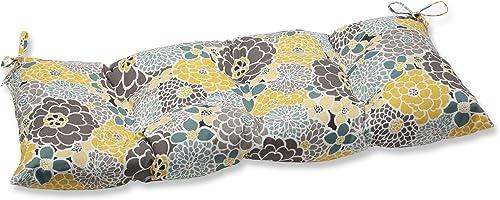 Pillow Perfect Indoor Outdoor Full Bloom Swing Bench Cushion,Blue,Medium