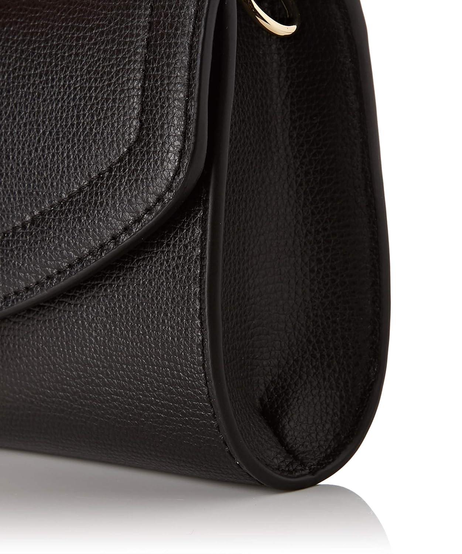Borbonese dam Tracolla liten cross-body väska Black (Nero/Op Nat 480)