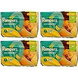 Pampers Dry - 172 pañales para recién nacidos (4 paquetes de 43 unidades, talla 1, 2-5 kg)