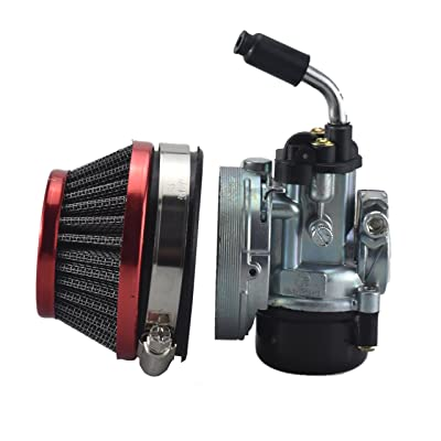 Racing Carburetor 2 Stroke 49cc 66cc 70cc 80cc With Air Filter For 2 Stroke Engine Motorized Bicycle RED: Automotive