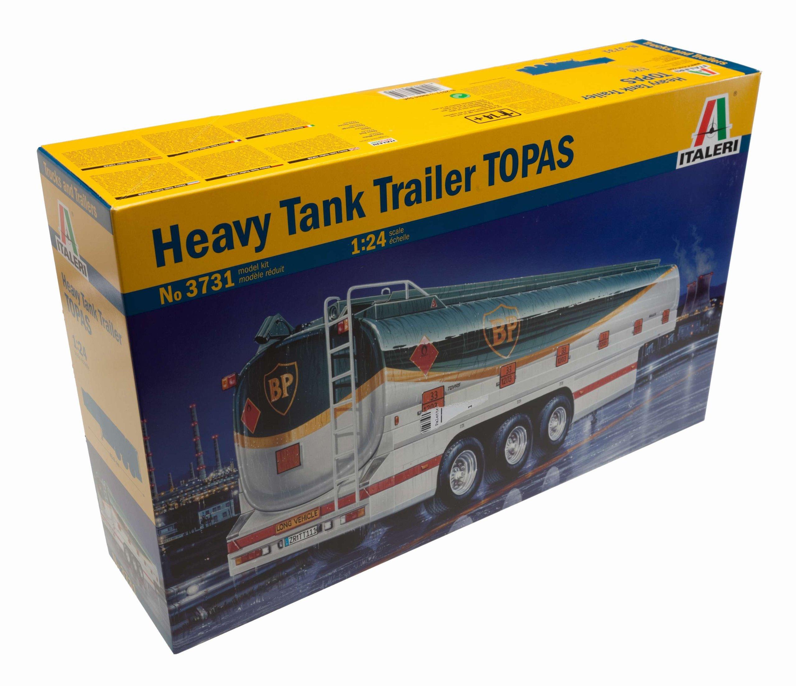 Italeri 510003731 -1:24 Topas Tank semi-Trailer