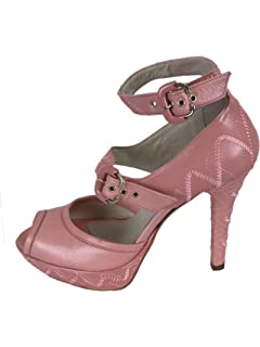 Fornarina PIFBI1617WB Vintage Glittered Mary Jane Shoes 39 Xkr8w0t6rE