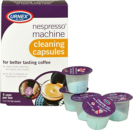 Amazon.com: Urnex Cafetera Nespresso cápsulas de limpieza, 5 ...