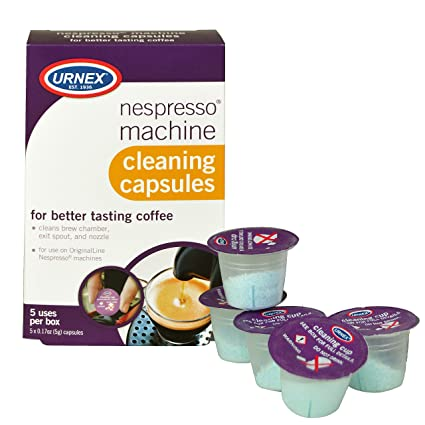 Urnex Nespresso cápsulas de máquina de limpieza, 5 Count