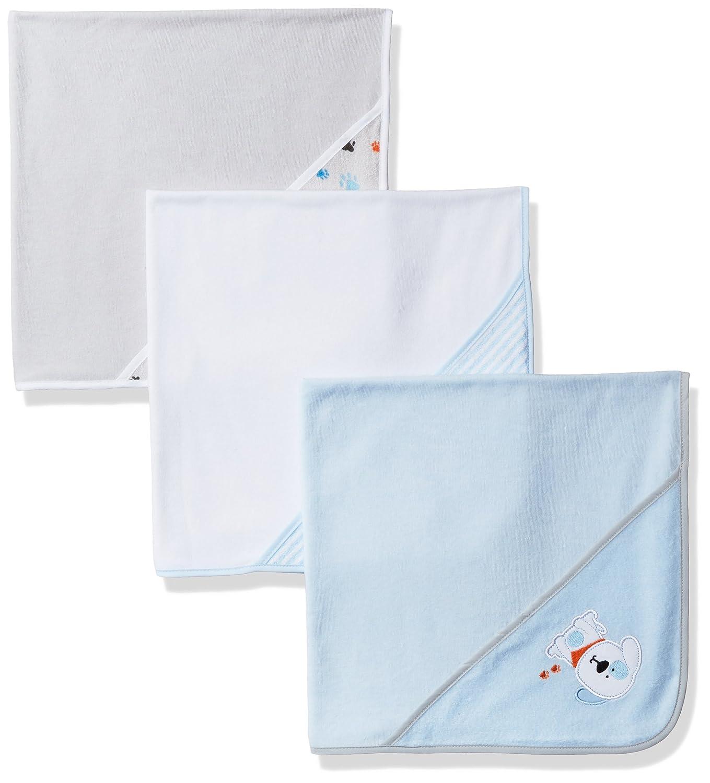 Amazon.com: BON BEBE Baby Puppy Paws 3 Pack Bath Blanket Set, Puppy ...