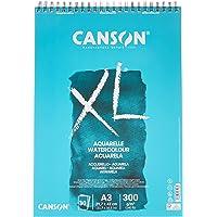 Canson 400039171 XL aquarel spiraal knutselkussen, 300 g/m², A3-formaat