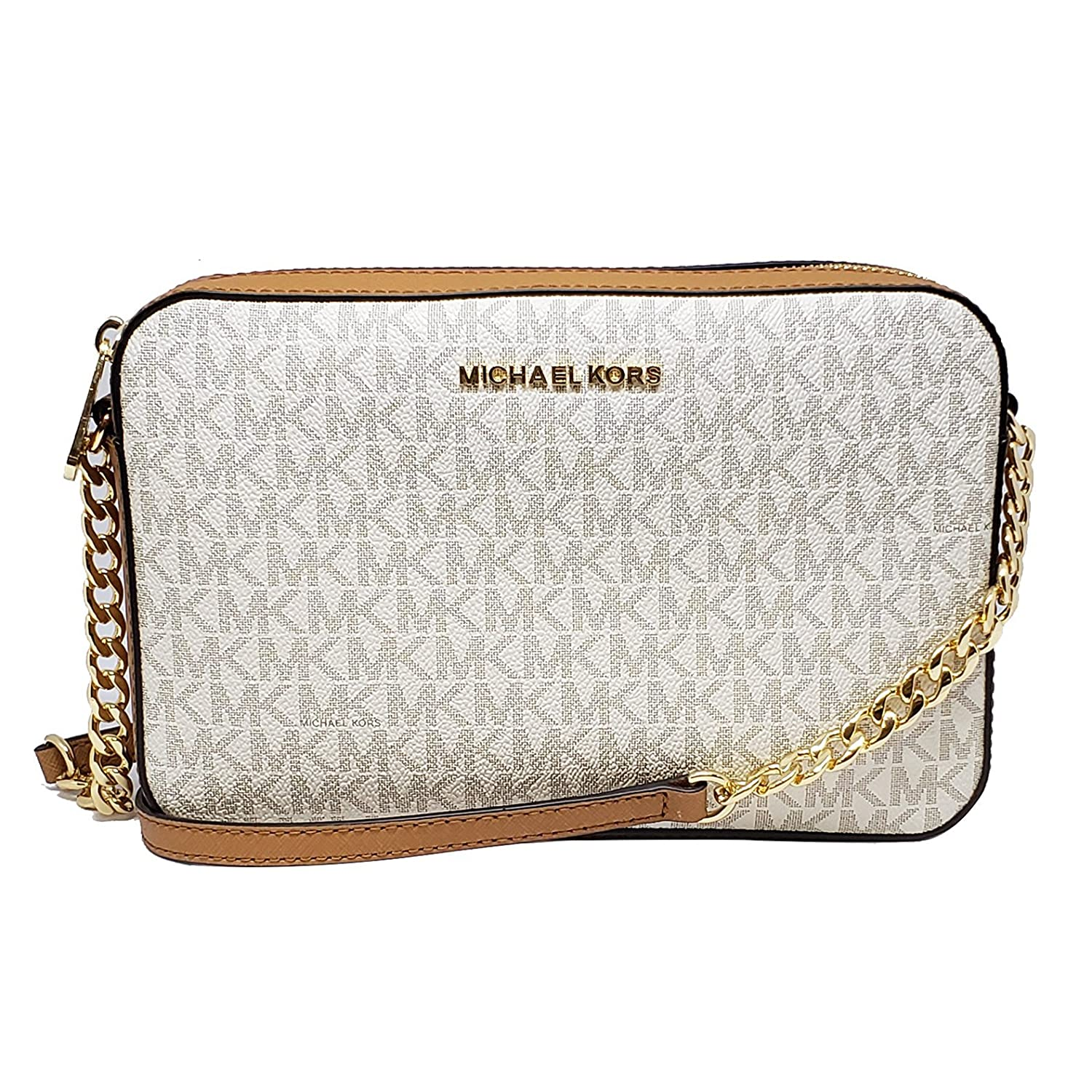 54667d3ecf8511 Michael Kors Jet Set Item Large Crossbody Vanilla/Acrn (35F8GTTC3B):  Amazon.co.uk: Shoes & Bags