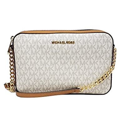 8be97ff1d3bc94 Michael Kors Jet Set Item Large Crossbody Vanilla/Acrn (35F8GTTC3B ...