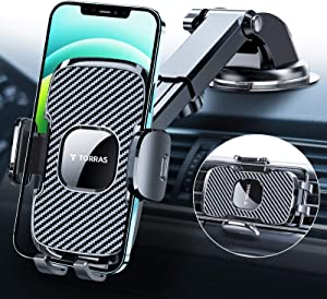 [4th-Gen] TORRAS Cell Phone Holder for Car, [Big Thick Phone Friendly] Car Phone Mount Dashboard/ Windshield/ Air Vent, Cell Phone Car Mount Fits for iPhone 12 11 Pro Max X, S20+Ultra Note 20 10 Plus