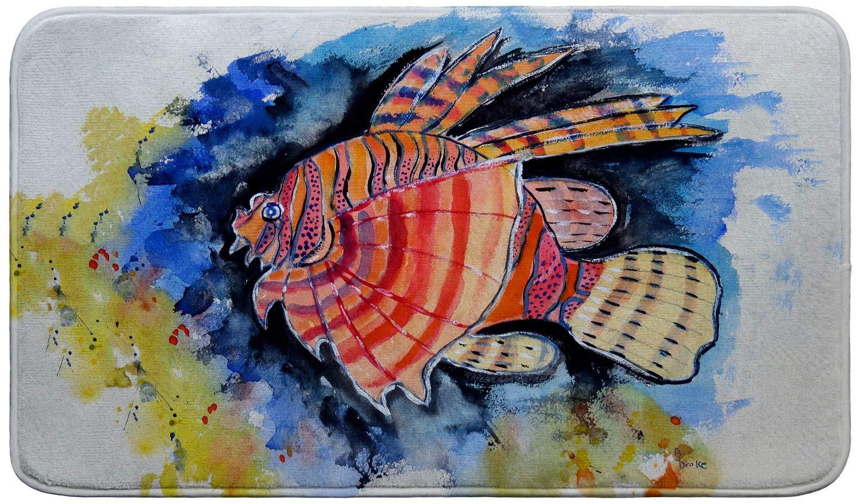 Betsy Drake Betsy's Lion Fish Bath Mat 18x30 Betsy Drake Interiors