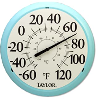 Taylor Precision Products Big And Bold Dial Thermometer (13.25 Inch, Sky  Blue)