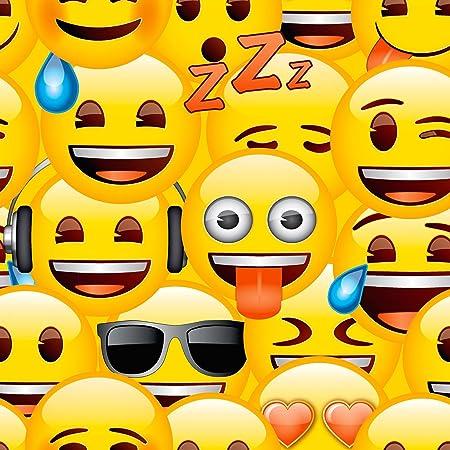 Emoji Official Wallpaper Wood Yellow 10 M