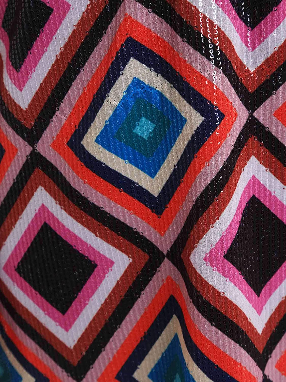 821DD10026 Denny Rose Vestito con Paillettes Colorate Donna